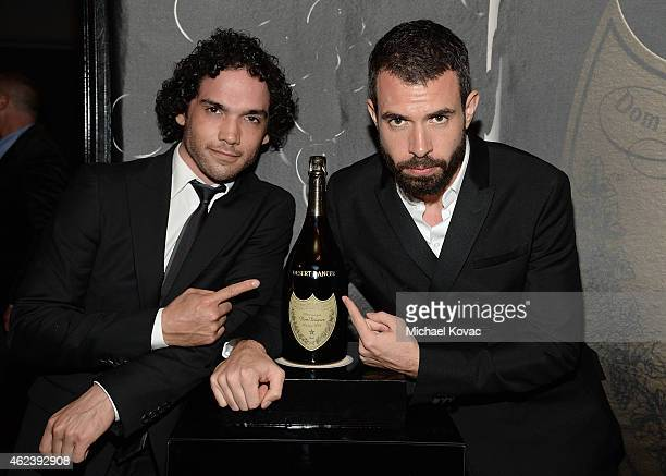 Actors Reece Ritchie and Tom Cullen visit the Dom Perignon Lounge at The Santa Barbara International Film Festival to celebrate the opening night...