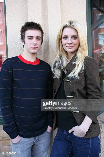 Actors Reece Thompson and Mischa Barton promoting their film Assassination of a High School President in Park City Utah during the 2008 Sundance Film...