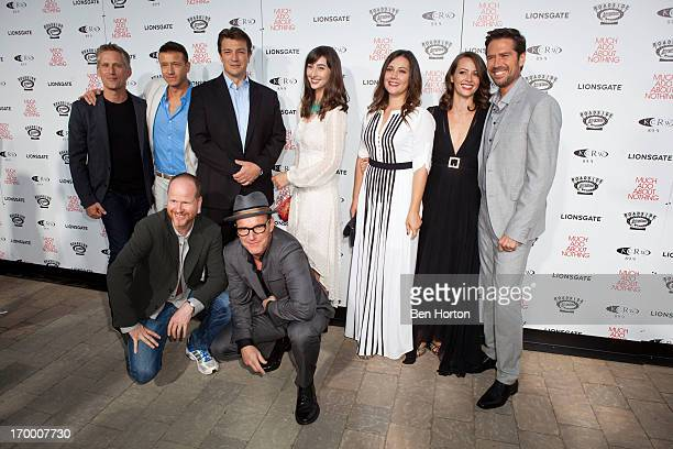 Actors Reed Diamond, Joshua Zar, director Joss Whedon, Actor Nathan Fillion, actor Clark Gregg, actress Jillian Morgese, actress Emma Bates, actress...