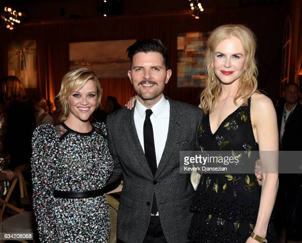Actors Reese Witherspoon Adam Scott and Nicole Kidman attend the after party of HBO's 'Big Little Lies' at TCL Chinese Theatre on February 7 2017 in...
