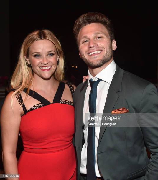 Actors Reese Witherspoon and Jon Rudnitsky attend the after party for the premiere of Open Road Films' Home Again at the DGA Theater on August 29...