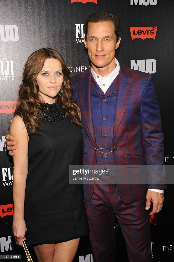 Actors Reese Witherspoon and Matthew McConaughey attend the Cinema Society screening of 'Mud' at The Museum of Modern Art on April 21, 2013 in New York City.