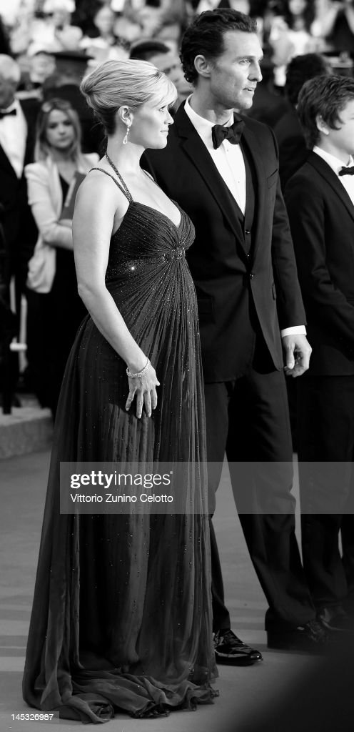 Actors Reese Witherspoon and Matthew McConaughey attend the 'Mud' Premiere during the 65th Annual Cannes Film Festival at Palais des Festivals on May 26, 2012 in Cannes, France.