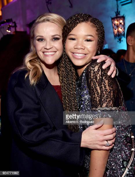Actors Reese Witherspoon and Storm Reid at the world premiere of Disney's 'A Wrinkle in Time' at the El Capitan Theatre in Hollywood CA Feburary 26...