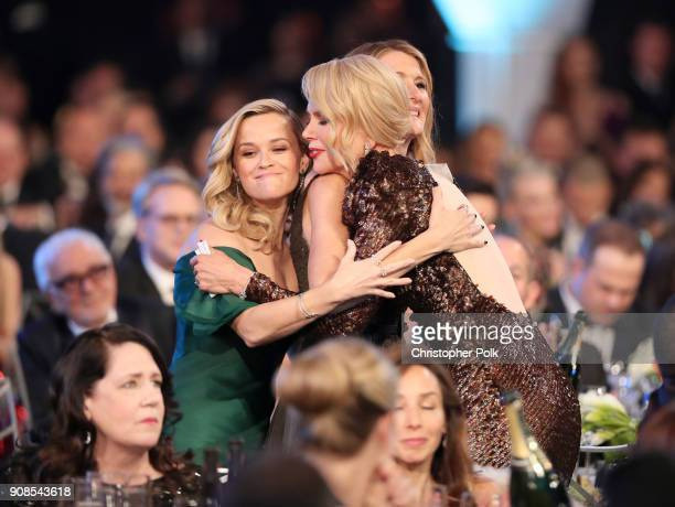Actors Reese Witherspoon Laura Dern and Nicole Kidman attend the 24th Annual Screen Actors Guild Awards at The Shrine Auditorium on January 21 2018...