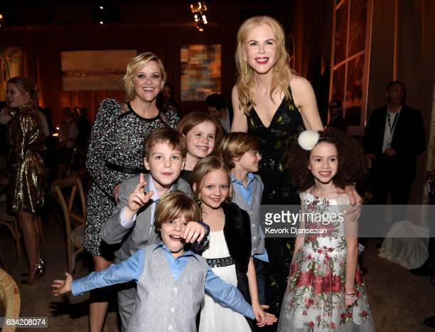 Actors Reese Witherspoon Nicole Kidman Ian Armitage Darby Camp Ivy George Cameron Crovetti Nicholas Crovetti Chloe Coleman attend the after party of...