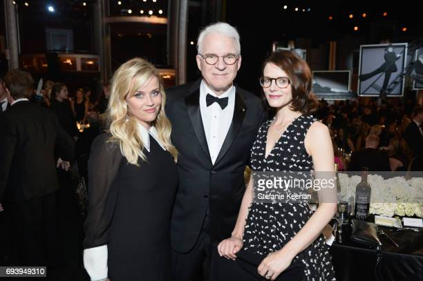 Actors Reese Witherspoon Steve Martin and writer Anne Stringfield during American Film Institute's 45th Life Achievement Award Gala Tribute to Diane...