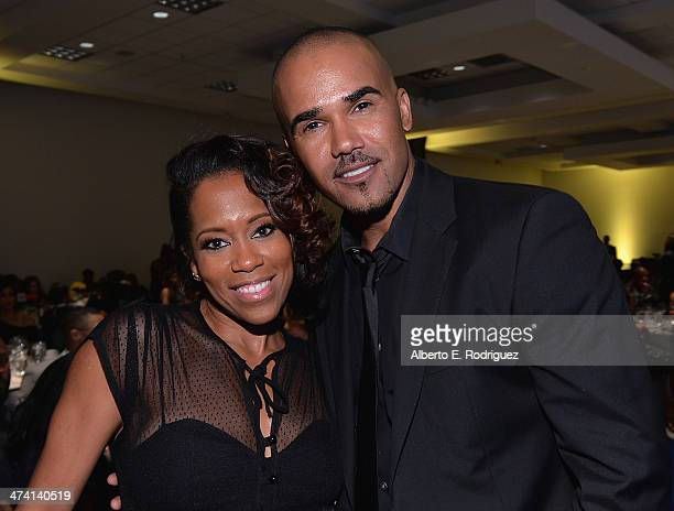 Actors Regina King and Shemar Moore attend the 45th NAACP Awards NonTelevised Awards Ceremony at the Pasadena Civic Auditorium on February 21 2014 in...
