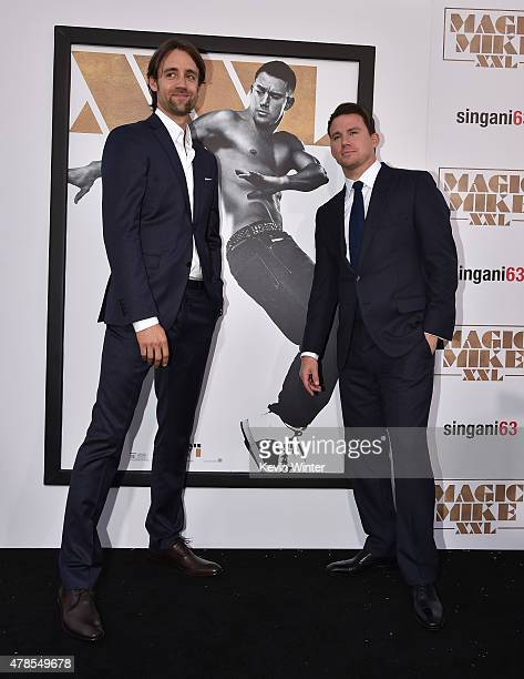 Actors Reid Carolin and Channing Tatum attend the premiere of Warner Bros Pictures' Magic Mike XXL at TCL Chinese Theatre IMAX on June 25 2015 in...
