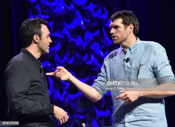 Actors Reid Scott and Timothy Simons speak onstage at 'Featured Session VEEP Cast' during 2017 SXSW Conference and Festivals at Austin Convention...
