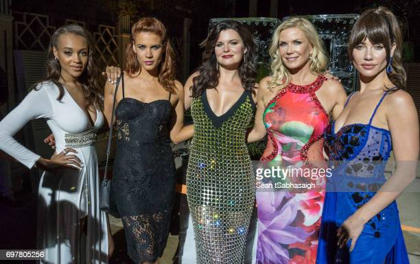 Actors Reign Edwards Courtney Hope Heather Tom Katherine Kelly Lang and Jacqueline MacInnes Wood pose for a photo while attending the 'The Bold and...