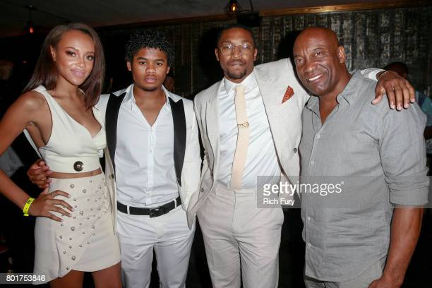 Actors Reign Edwards Isaiah John Malcolm Mays and CoCreator/Executive Producer/Director/Writer John Singleton attend the after party for the premiere...