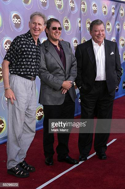 Actors Rene Auberjonois James Spader and William Shatner arrive at the ABC TCA party at the Abby on July 27 2005 in West Hollywood California