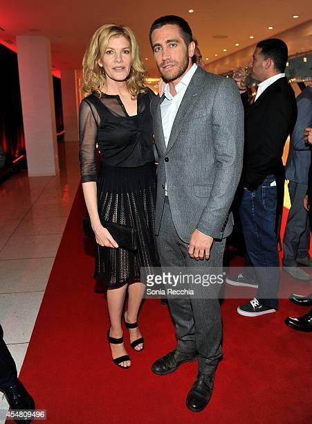 Actors Rene Russo and Jake Gyllenhaal attend a Variety dinner celebrating Jake Gyllenhaal at Holt Renfrew during the 2014 Toronto International Film...