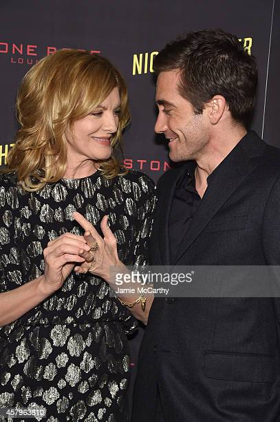 Actors Rene Russo and Jake Gyllenhaal attend the Nightcrawler New York Premiere at AMC Lincoln Square Theater on October 27 2014 in New York City