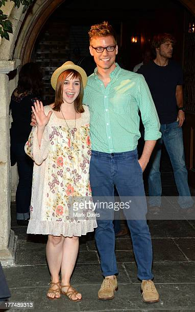 Actors Renee Felice Smith and Barrett Foa attend the CBS' NCIS Los Angeles celebrates the filming of their 100th episode held at Paramount Studios on...