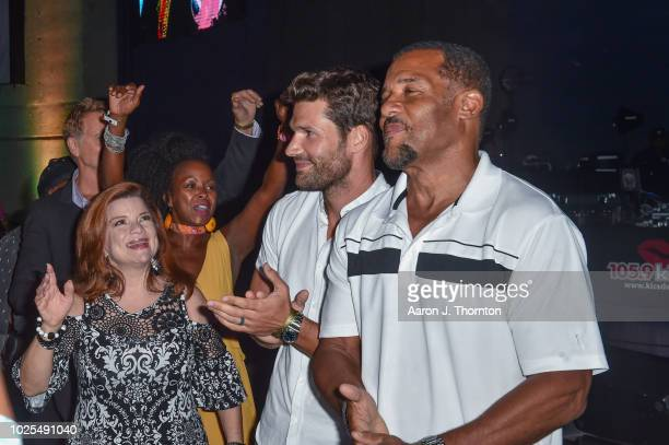 Actors Renee Lawless Crystal R Fox Aaron O'Connell and Peter Parros attend a Tribute Concert to celebrate the life of songstress Aretha Franklin at...