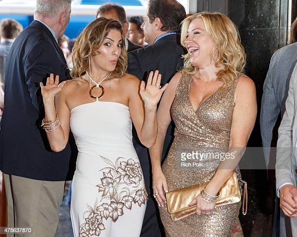 Actors Renee Marino and Lisa Ann Walter joke on the red carpet at the 4th Annual Jerry Herman Awards at the Pantages Theatre on June 1 2015 in...