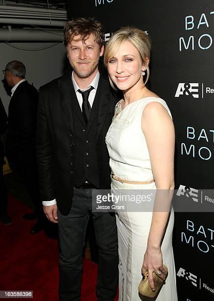 Actors Renn Hawkey and Vera Farmiga attend AE's 'Bates Motel' Premiere Party on March 12 2013 in West Hollywood California