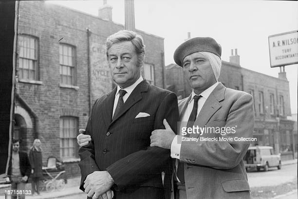 Actors Rex Harrison and Richard Burton in a scene from the film 'Staircase' 1969