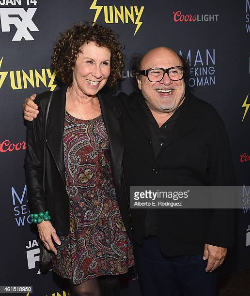 Actors Rhea Perlman and Danny DeVito arrive to the premiere of FXX's 'It's Always Sunny in Philadelphia' 10th Season and 'Man Seeking Woman' at DGA...
