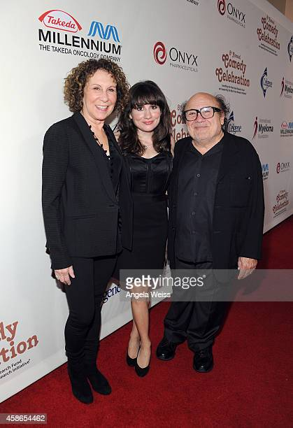 Actors Rhea Perlman Lucy DeVito and Danny DeVito attend the International Myeloma Foundation 8th Annual Comedy Celebration benefiting The Peter Boyle...