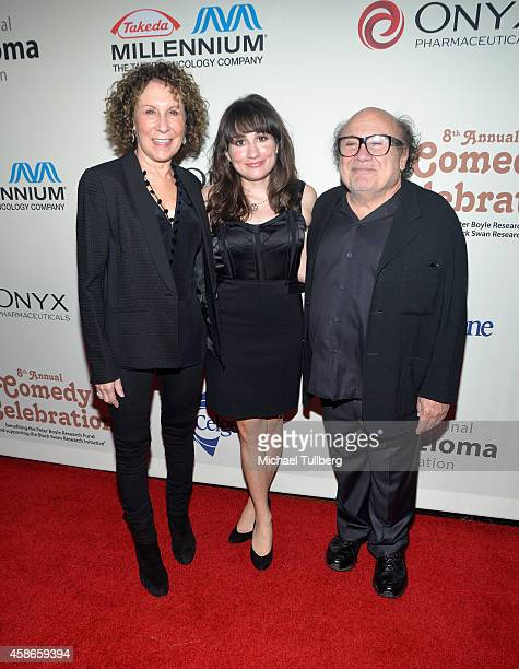 Actors Rhea Perlman Lucy DeVito and Danny DeVito attend The International Myeloma Foundation's 8th Annual Comedy Celebration at The Wilshire Ebell...