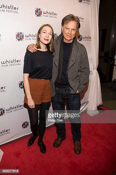 Actors Rhian Rees and Bruce Greenwood attend the World Premiere screening of 'Rehearsal' during the 2015 Annual Whistler Film Festival at Millneium...