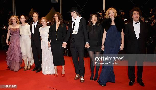 Actors Rhian Rees, August Diehl, Josephine de La Baume, Karole Rocher, Pete Doherty, Director Sylvie Verheyde, actress Lily Cole and actor Guillaume...