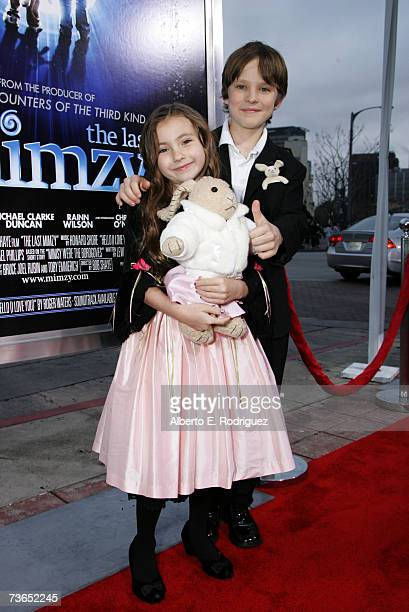 Actors Rhiannon Leigh Wryn and Chris O'Neil arrive at the premiere of New Line's The Last Mimzy held at the The Mann Village Theatre on March 20 2007...
