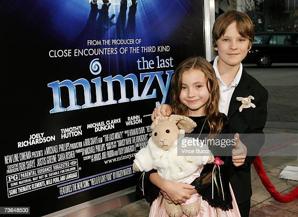 Actors Rhiannon Leigh Wryn and Chris O'Neil attend the West Coast premiere of the New Line Cinema film The Last Mimzy on March 20 2007 in Los Angeles...