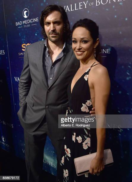 Actors Rhys Coiro and Autumn Reeser attend the world premiere of 'Valley Of Bones' at ArcLight Hollywood on August 24 2017 in Hollywood California