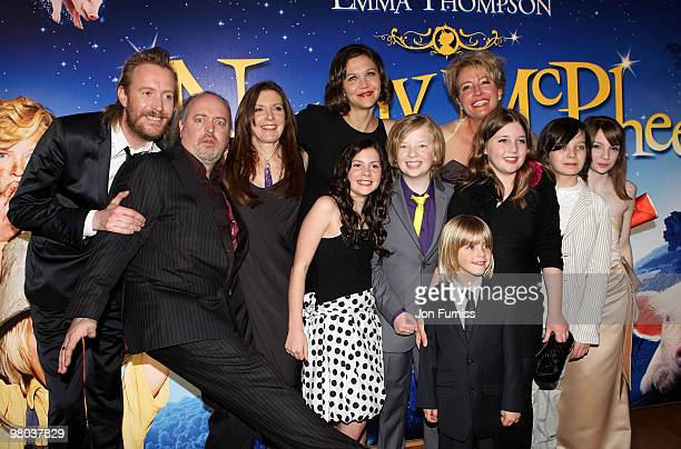 Actors Rhys Ifans and Bill Bailey director Susanna White actors Maggie Gyllenhaal Lil Woods Eros Valhos Emma Thompson and Oscar Steer Thompson's...