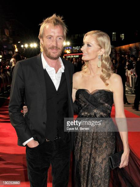 Actors Rhys Ifans and Joely Richardson attend the premiere of 'Anonymous' during the 55th BFI London Film Festival at Empire Leicester Square on...