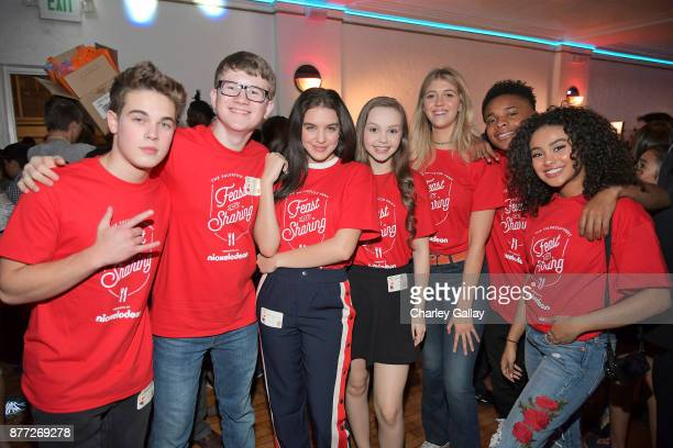Actors Ricardo Hurtado Aidan Miner Lilimar Savannah May Lexi DiBenedetto Amarr M Wooten and Daniella Perkins attend The Salvation Army Feast of...