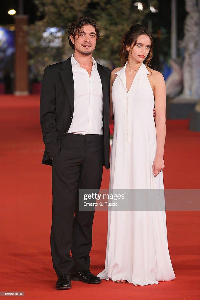 Actors Riccardo Scamarcio and Clara Ponsot attend the 'Cosimo E Nicole' Premiere during the 7th Rome Film Festival at Auditorium Parco Della Musica on November 16, 2012 in Rome, Italy.