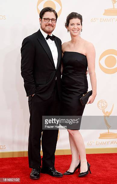 Actors Rich Sommer and Virginia Donohoe arrive at the 65th Annual Primetime Emmy Awards held at Nokia Theatre LA Live on September 22 2013 in Los...