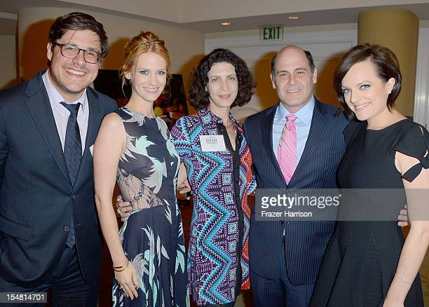 Actors Rich Sommer January Jones architect Linda Brettler producer Matthew Weiner and actress Elisabeth Moss arrive at the 41st Annual Peace Over...