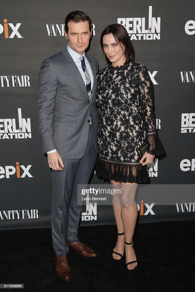 Actors Richard Armitage and Michelle Forbes attends Premiere Of EPIX's 'Berlin Station' at Milk Studios on September 29, 2016 in Hollywood, California.