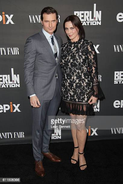 Actors Richard Armitage and Michelle Forbes attends Premiere Of EPIX's 'Berlin Station' at Milk Studios on September 29 2016 in Hollywood California