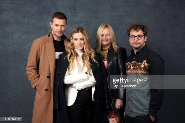 Actors Richard Armitage Riley Keough directors Veronika Franz and Severin Fiala from 'The Lodge' are photographed for Los Angeles Times on January 25...
