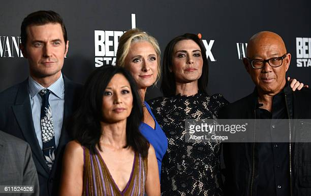 Actors Richard Armitage Tamlyn Tomita Caroline Goodall Michelle Forbes and Michael Paul Chan arrive for the Premiere Of EPIX's 'Berlin Station' held...