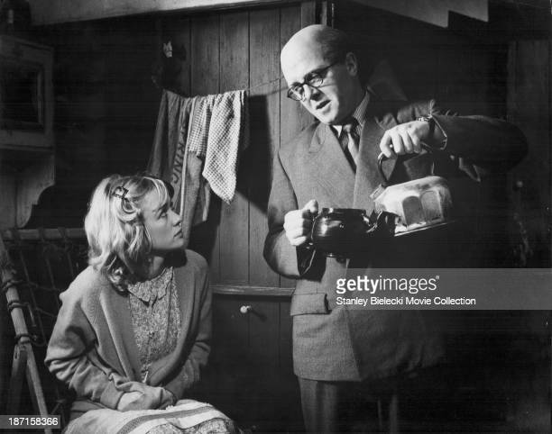 Actors Richard Attenborough and Judy Geeson in a scene from the film '10 Rillington Place' 1971