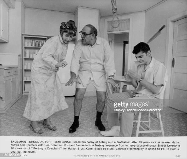 Actors Richard Benjamin, Lee Grant and Jack Somack in a scene from the movie 'Portnoy's Complaint', 1972.