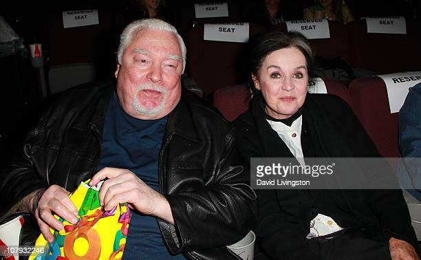 Actors Richard Bradford and Millie Perkins attend American Cinematheque's presentation of an Andy Garcia double feature at the Aero Theatre on...