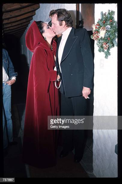 Actors Richard Burton and Elizabeth Taylor kiss February 1 1974 in Switzerland Oscar winner Taylor made several relatively obscure movies in Europe...