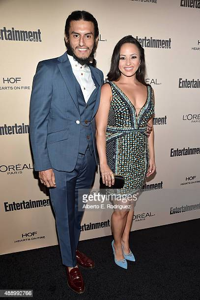 Actors Richard Cabral and Janiece Sarduy attends the 2015 Entertainment Weekly Pre-Emmy Party at Fig & Olive Melrose Place on September 18, 2015 in...