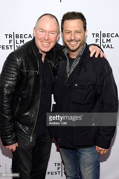 """Actors Richard Christy and Sal Governale attend """"Nerdland"""" Premiere - 2016 Tribeca Film Festival at SVA Theatre on April 14, 2016 in New York City."""