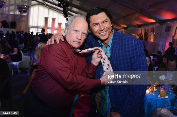 Actors Richard Dreyfuss and Lou Diamond Phillips attend AE Networks 2012 Upfront at Lincoln Center on May 9 2012 in New York City