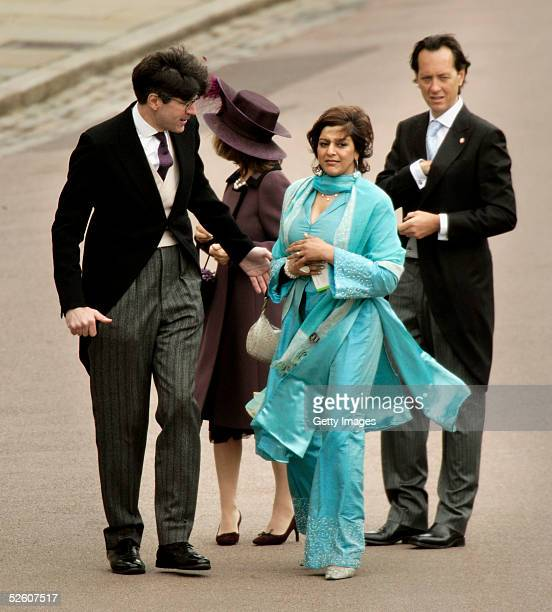 Actors Richard E Grant and Meera Syal attend the Service of Prayer and Dedication following the marriage of TRH Prince Charles and The Duchess Of...